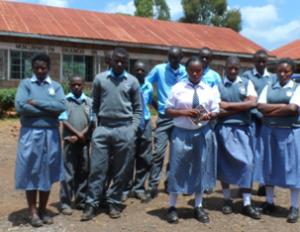 Deaf school group of pupils