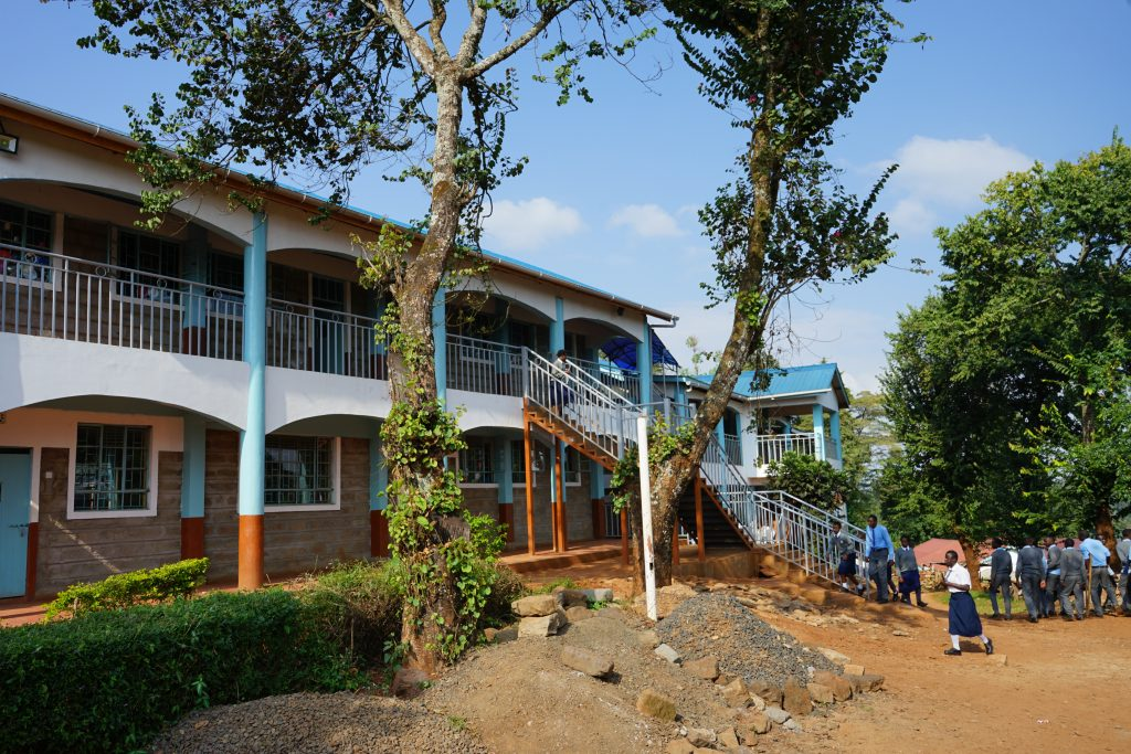 New two storey classrooms and dorm